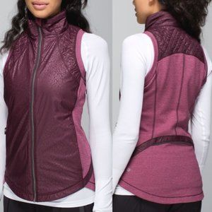 Lululemon Rebel Runner Vest Bordeaux Drama Sz 8
